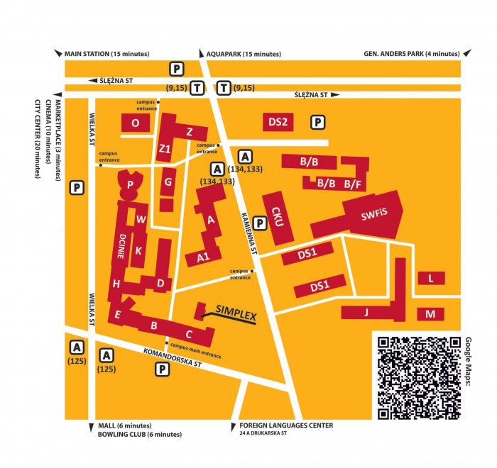 Map of the Campus   University   Wrocław University of Economics